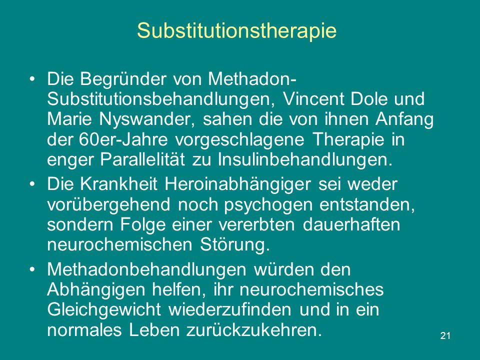 Substitutionstherapie