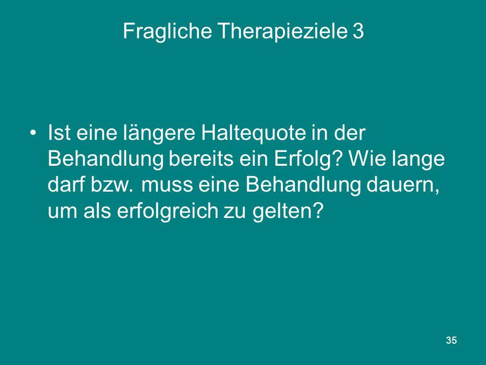 Fragliche Therapieziele 3