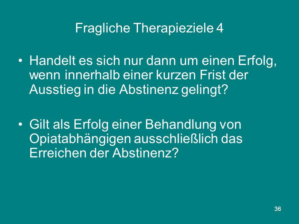 Fragliche Therapieziele 4