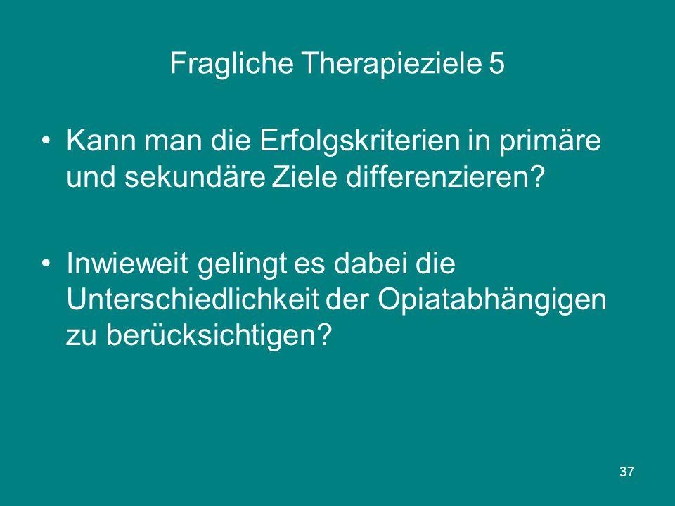 Fragliche Therapieziele 5