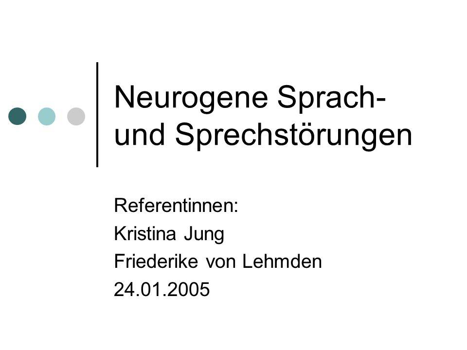 Neurogene Sprach- und Sprechstörungen