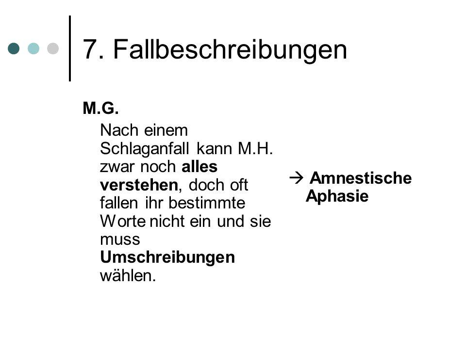 7. Fallbeschreibungen M.G.