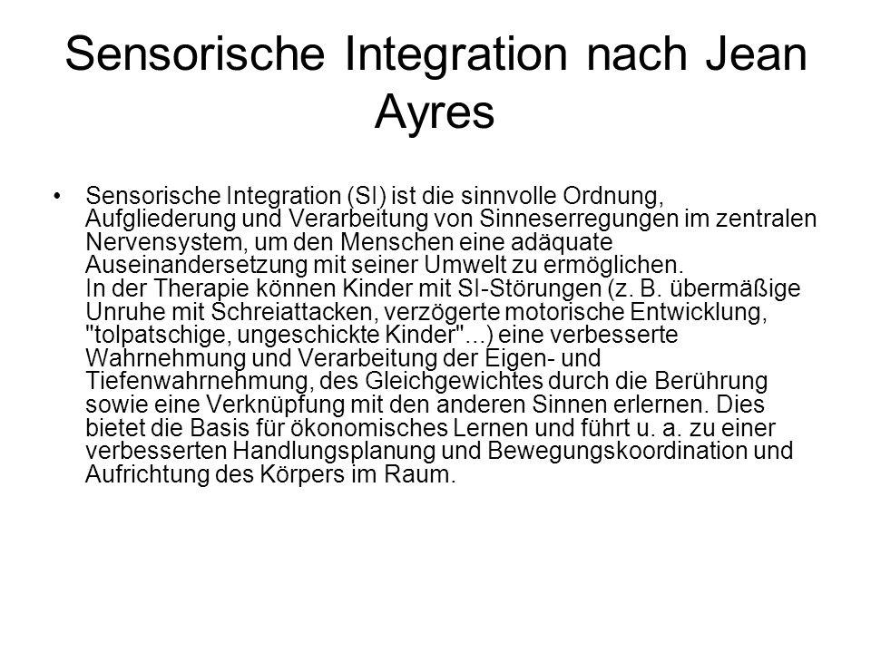 Sensorische Integration nach Jean Ayres