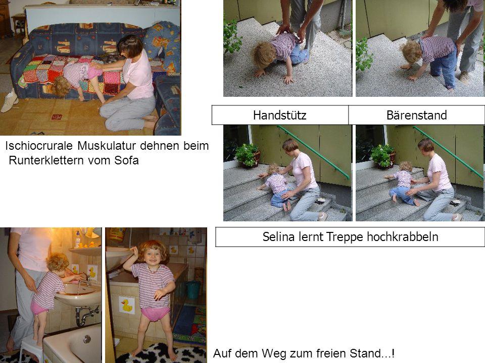 Selina lernt Treppe hochkrabbeln