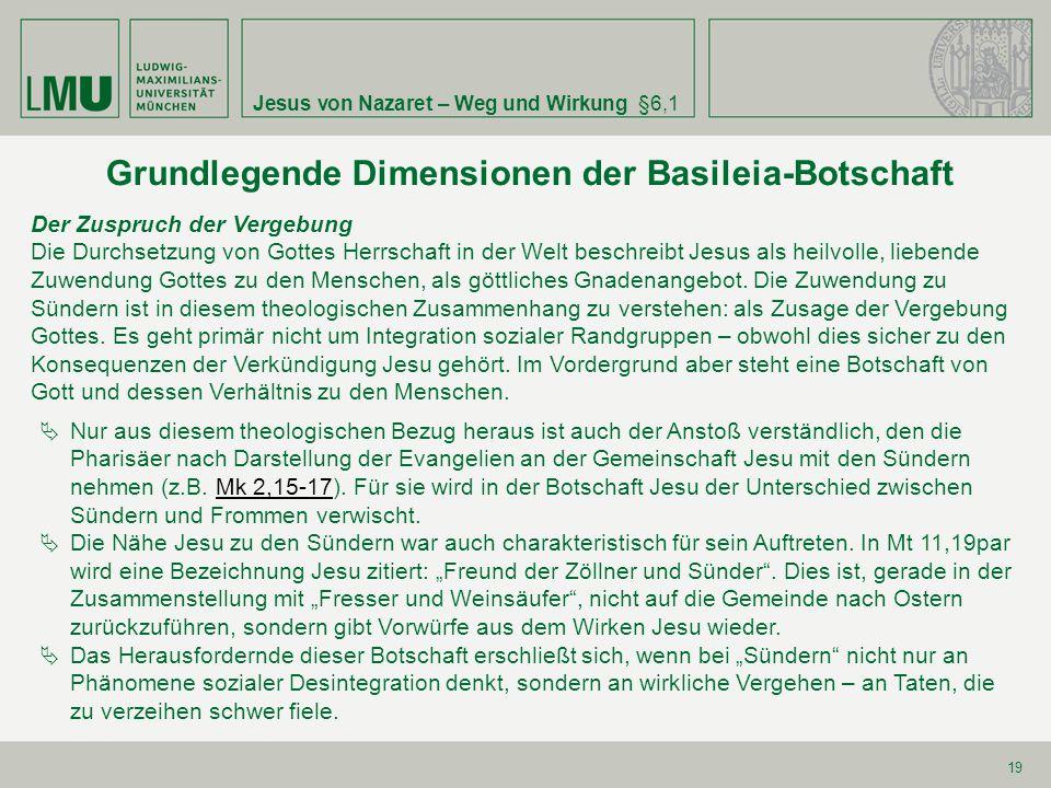 Grundlegende Dimensionen der Basileia-Botschaft