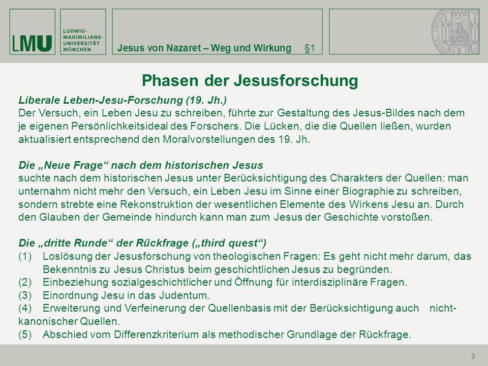 Phasen der Jesusforschung