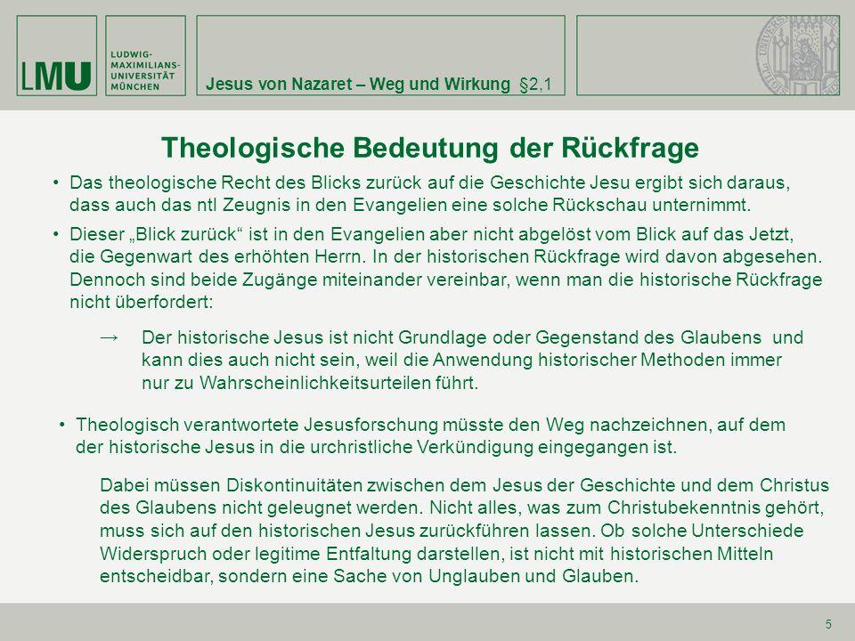 Theologische Bedeutung der Rückfrage