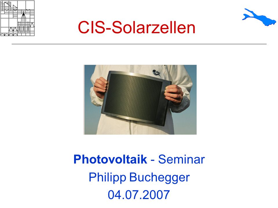 Photovoltaik - Seminar Philipp Buchegger 04.07.2007