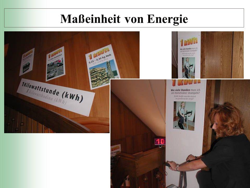 Maßeinheit von Energie