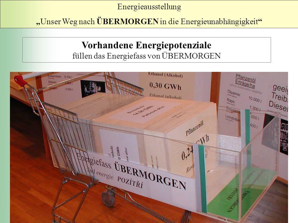 Vorhandene Energiepotenziale füllen das Energiefass von ÜBERMORGEN