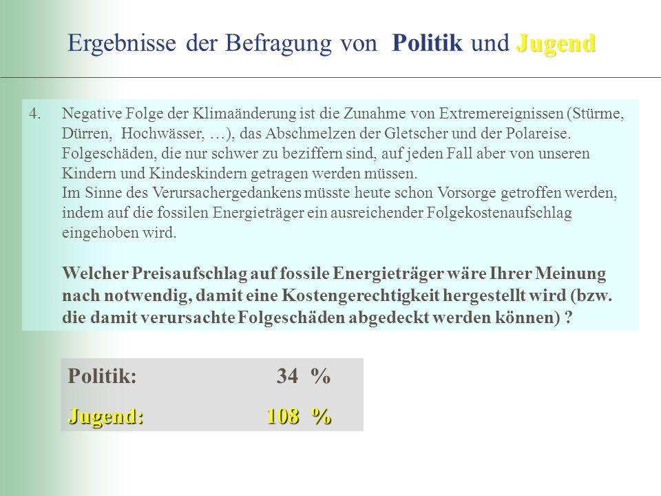 Ergebnisse der Befragung von Politik und Jugend
