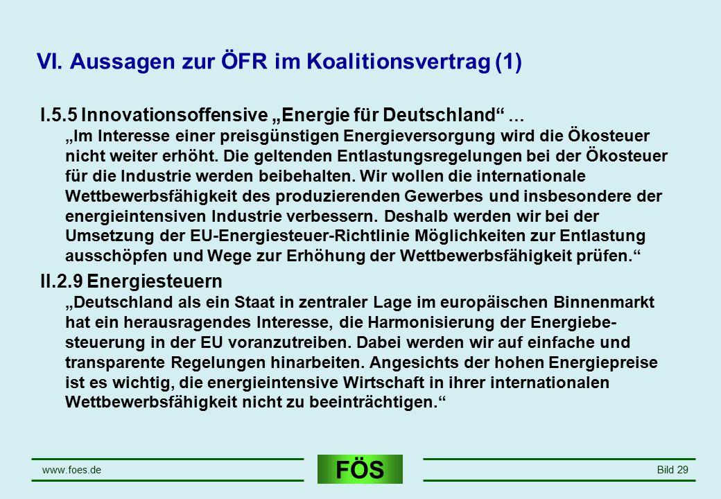 VI. Aussagen zur ÖFR im Koalitionsvertrag (1)