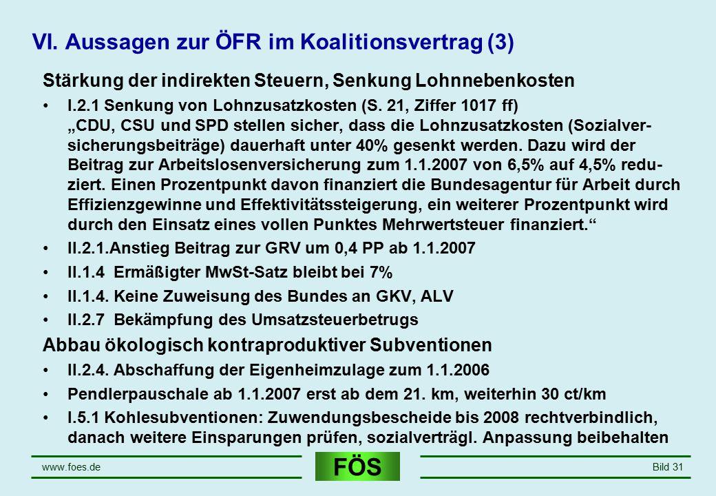 VI. Aussagen zur ÖFR im Koalitionsvertrag (3)
