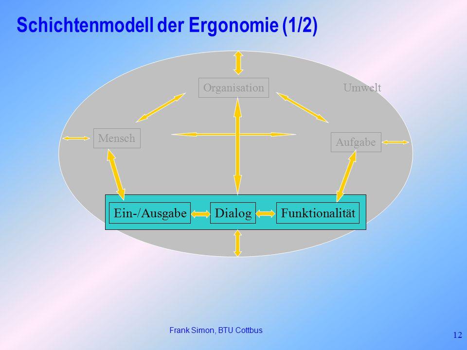 Schichtenmodell der Ergonomie (1/2)