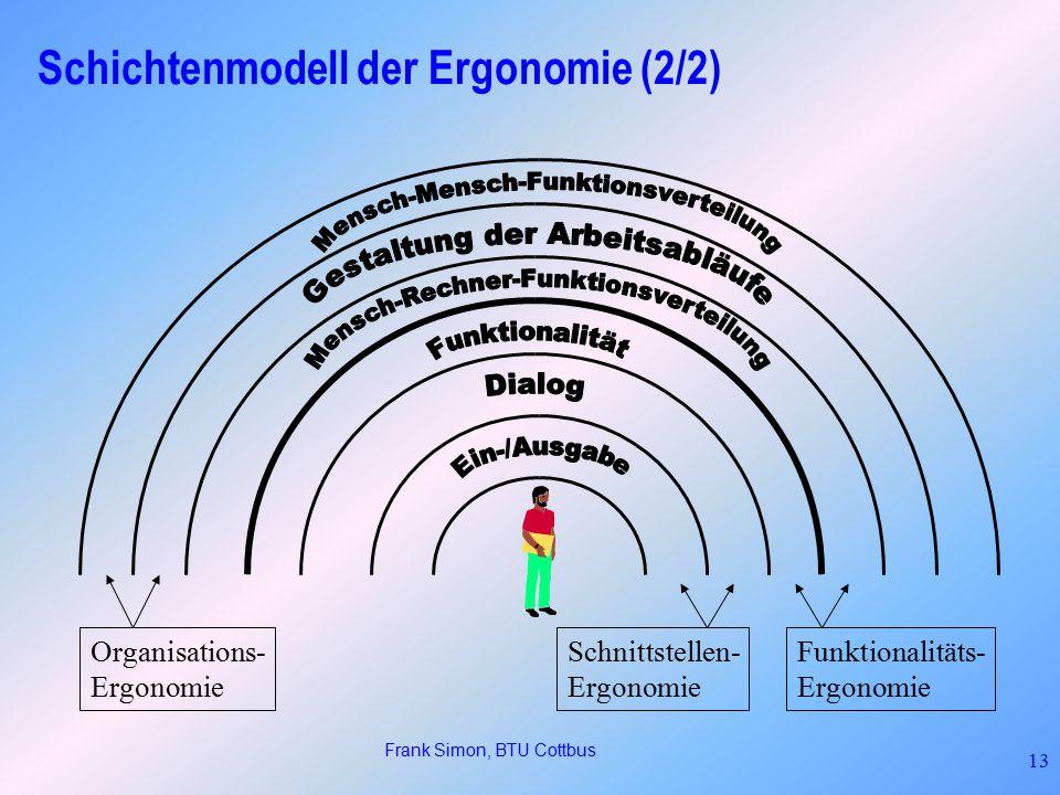 Schichtenmodell der Ergonomie (2/2)