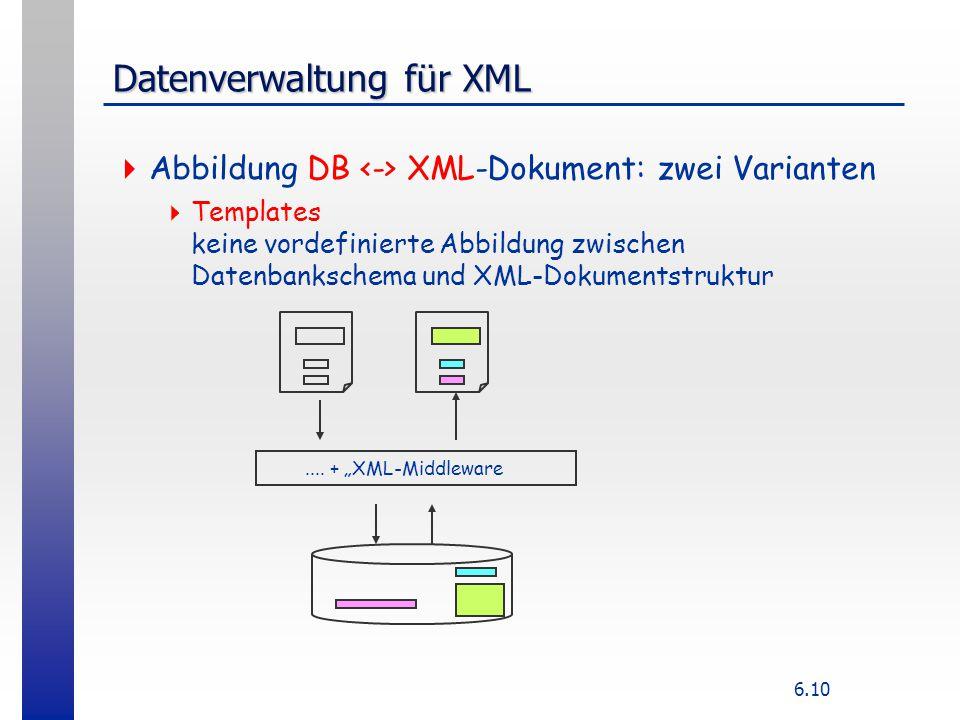 Datenverwaltung für XML