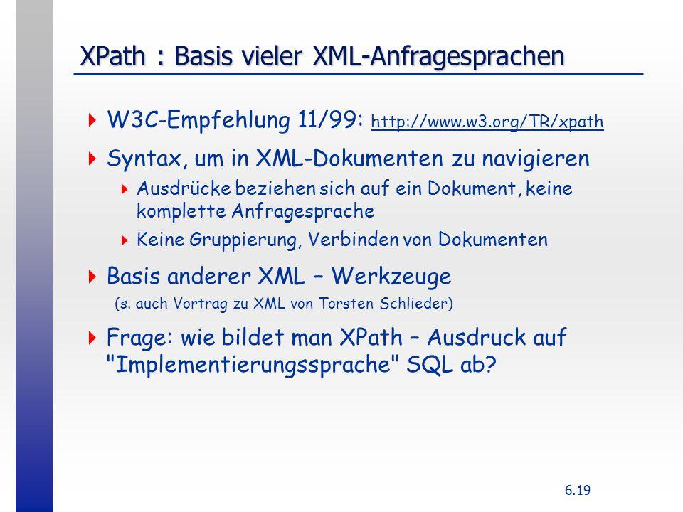 XPath : Basis vieler XML-Anfragesprachen
