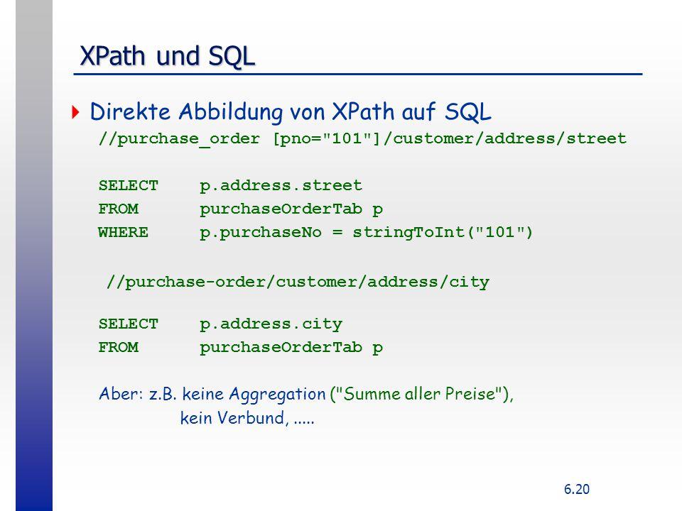 XPath und SQL Direkte Abbildung von XPath auf SQL