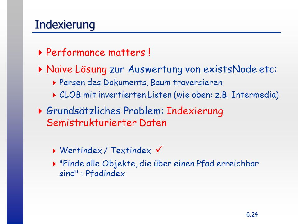 Indexierung Performance matters !