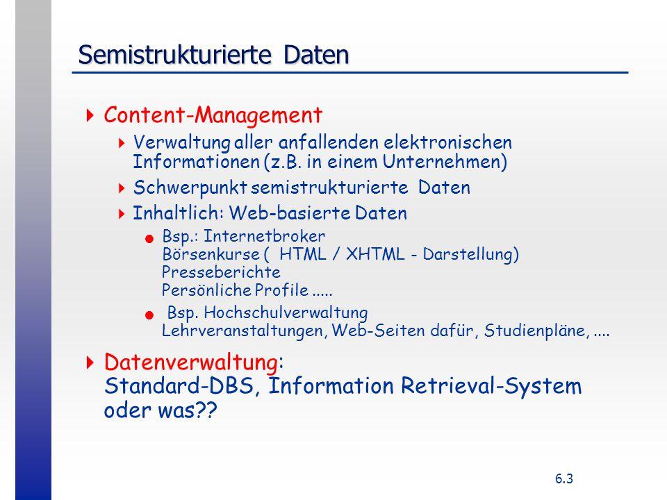 Semistrukturierte Daten