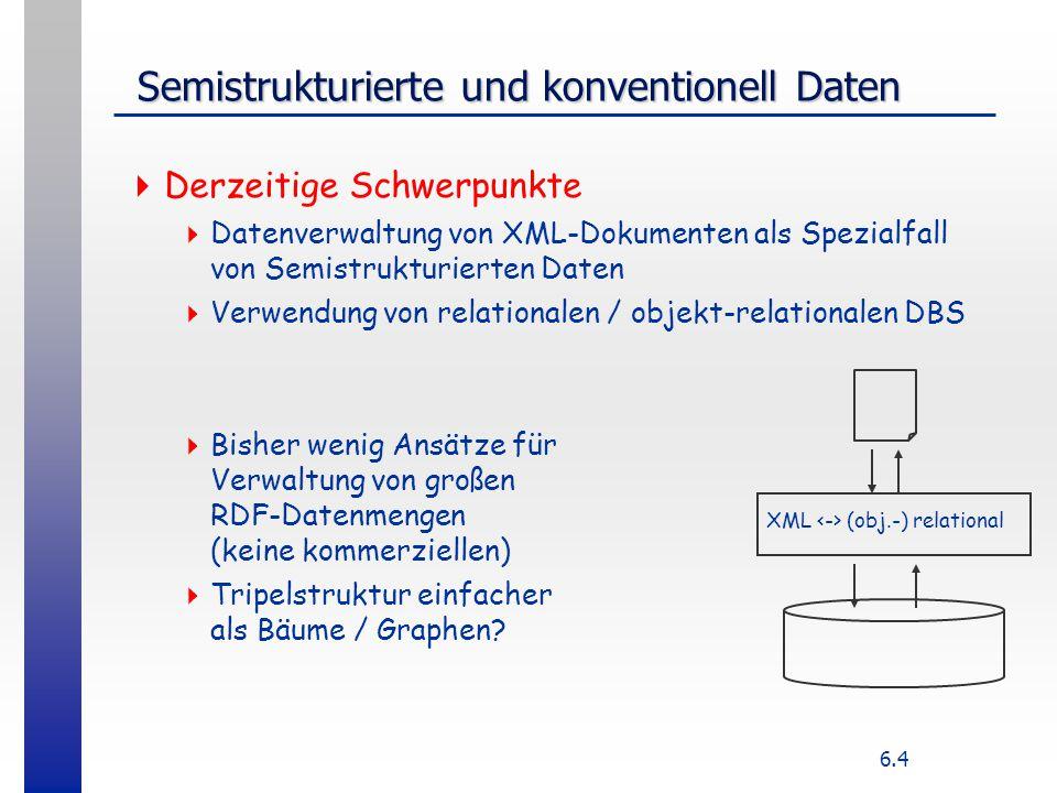 Semistrukturierte und konventionell Daten