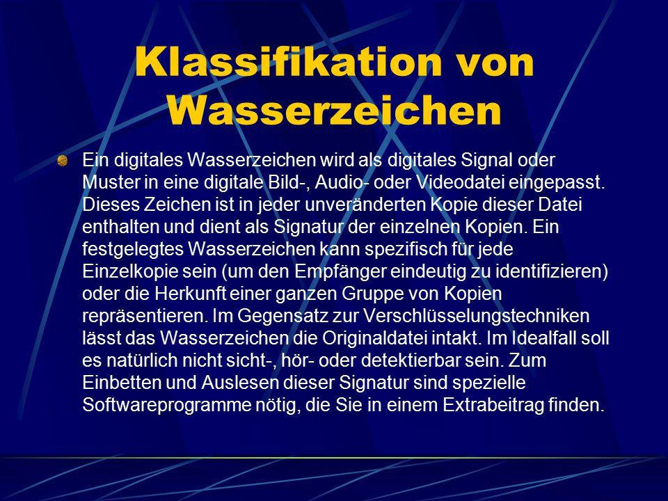 Klassifikation von Wasserzeichen