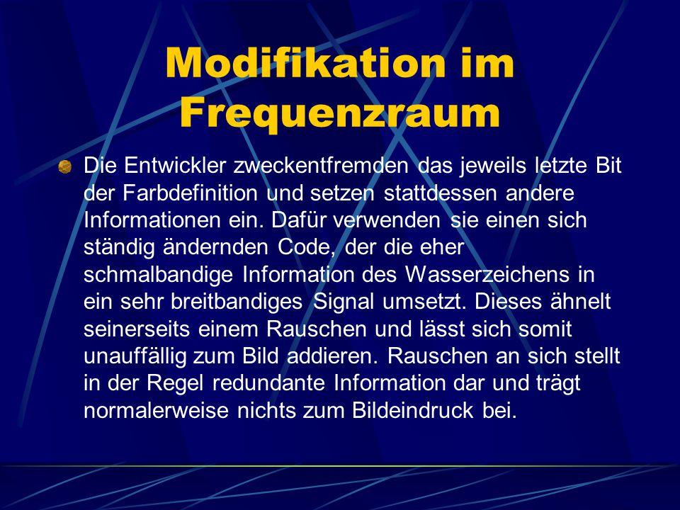 Modifikation im Frequenzraum