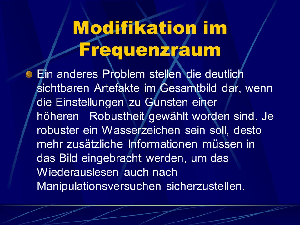 Modifikation im Frequenzraum