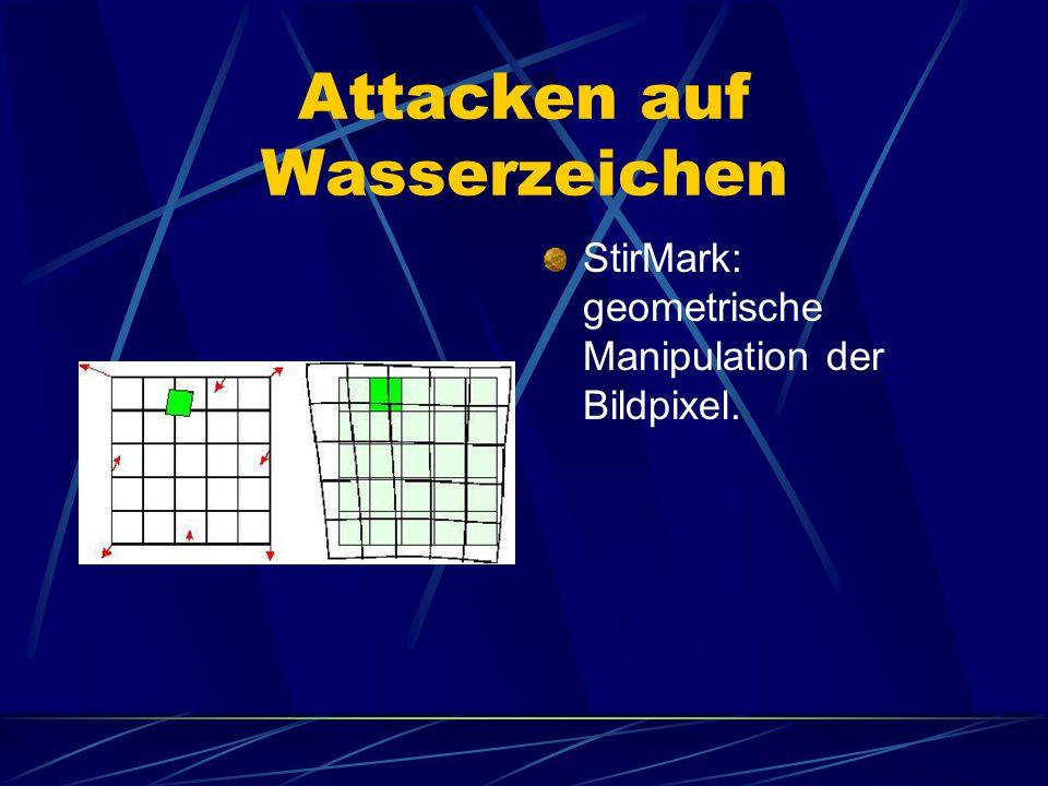 Attacken auf Wasserzeichen