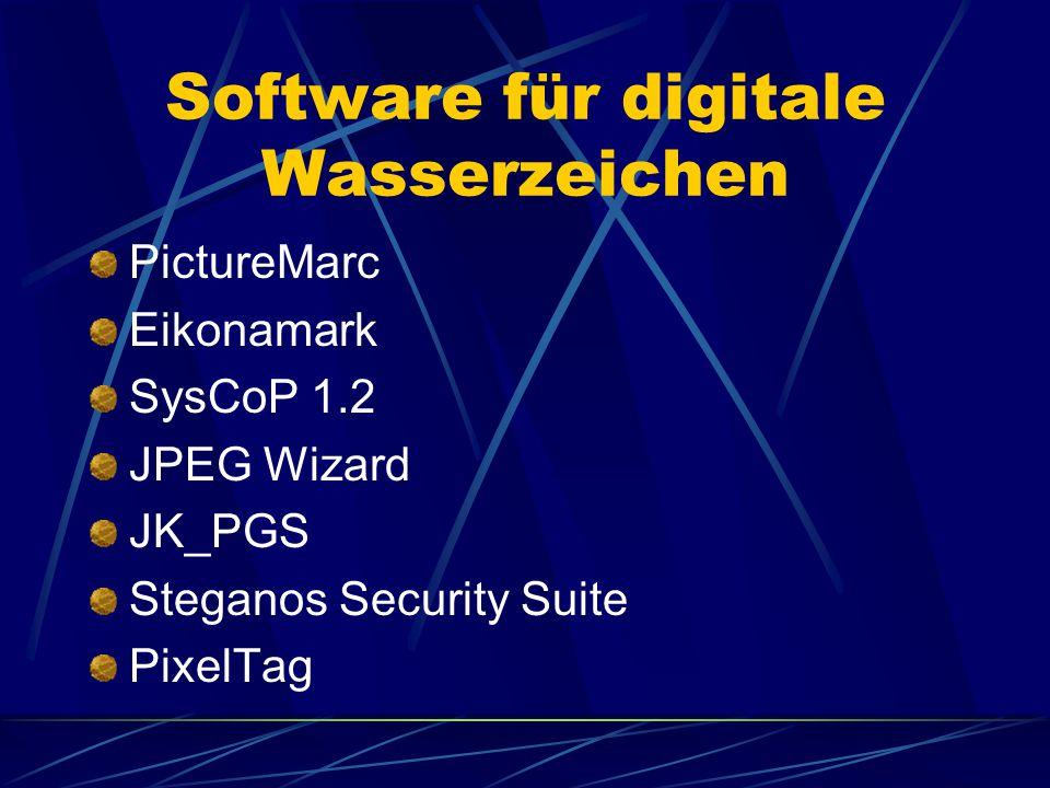 Software für digitale Wasserzeichen