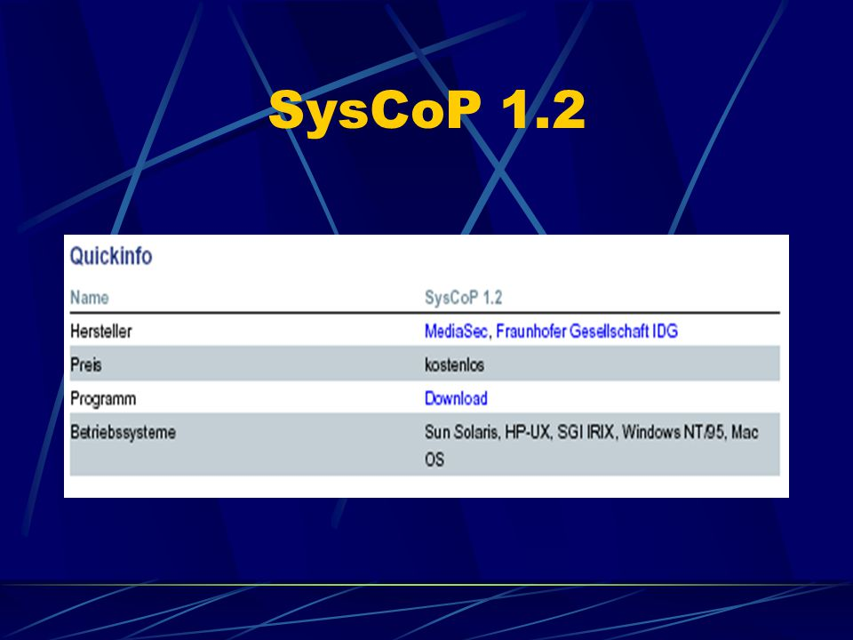 SysCoP 1.2