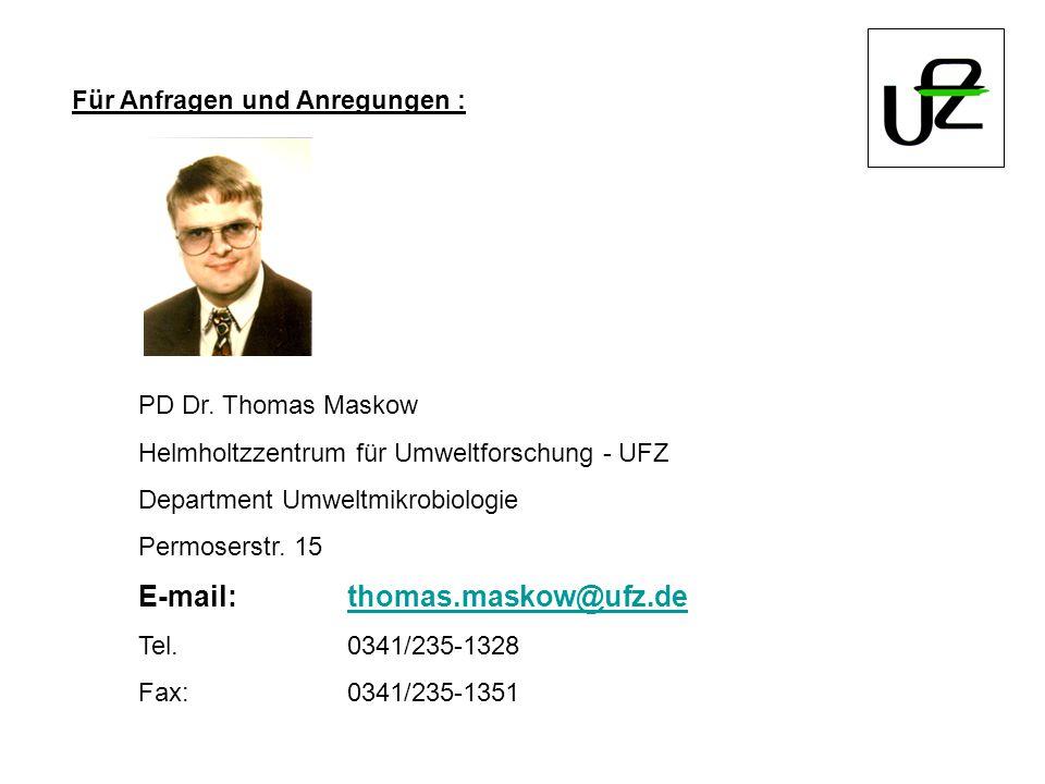 E-mail: thomas.maskow@ufz.de