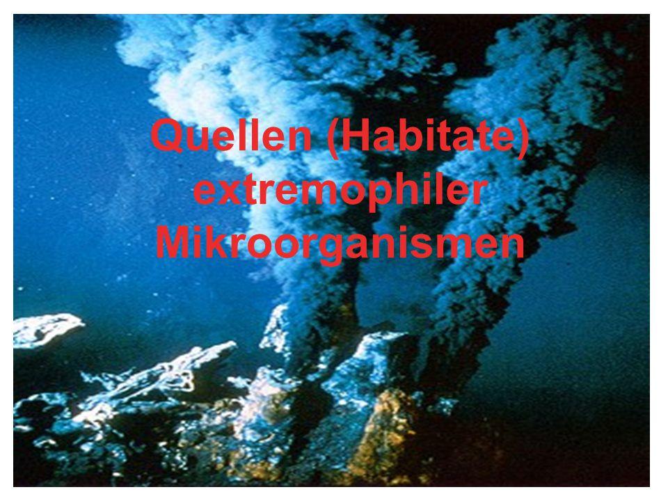Quellen (Habitate) extremophiler Mikroorganismen