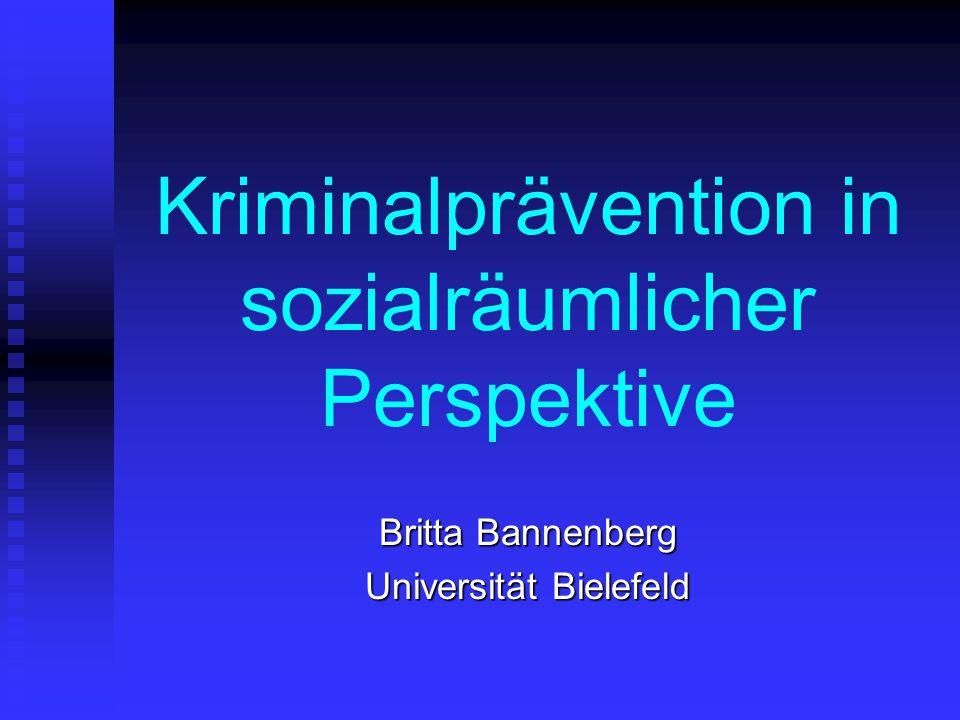 Kriminalprävention in sozialräumlicher Perspektive