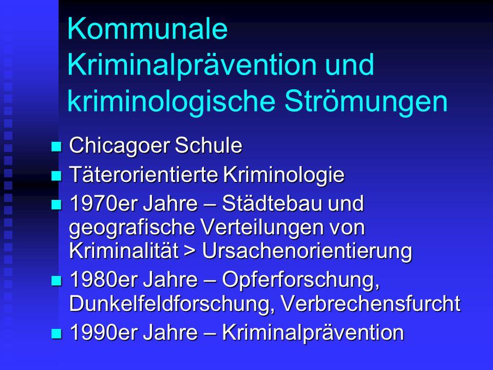 Kommunale Kriminalprävention und kriminologische Strömungen