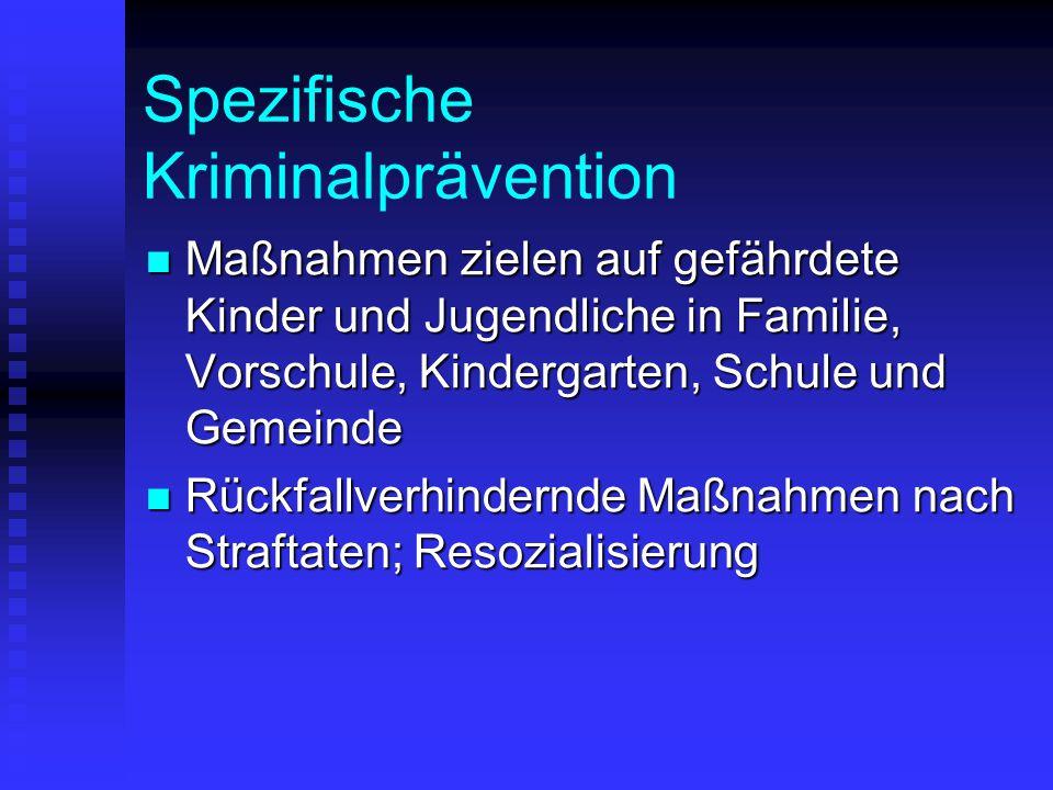Spezifische Kriminalprävention