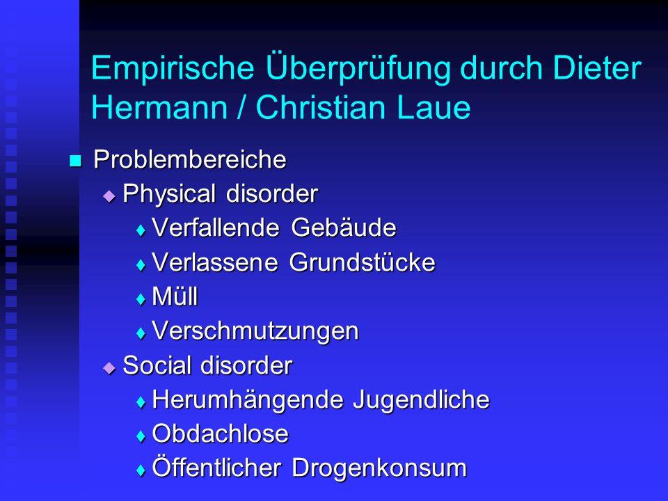 Empirische Überprüfung durch Dieter Hermann / Christian Laue