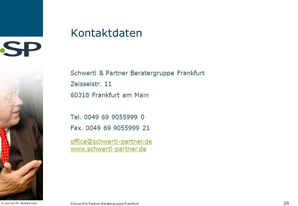 Kontaktdaten Schwertl & Partner Beratergruppe Frankfurt Zeisselstr. 11