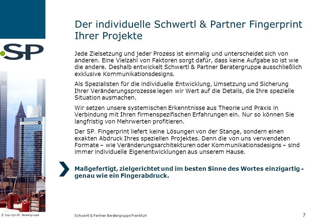 Der individuelle Schwertl & Partner Fingerprint Ihrer Projekte