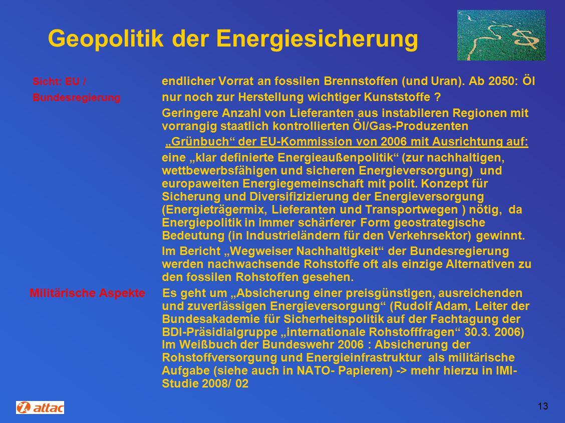 Geopolitik der Energiesicherung