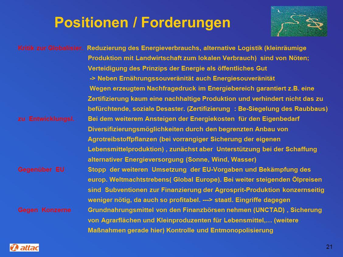 Positionen / Forderungen