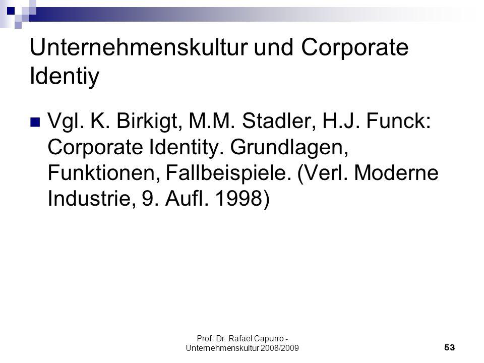 Unternehmenskultur und Corporate Identiy