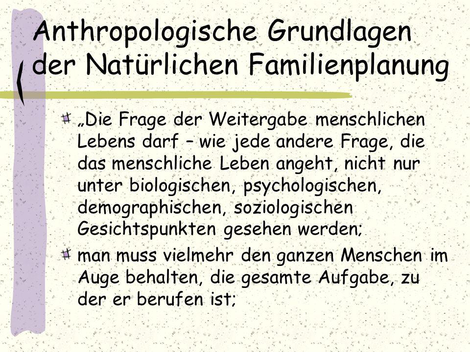 Anthropologische Grundlagen der Natürlichen Familienplanung