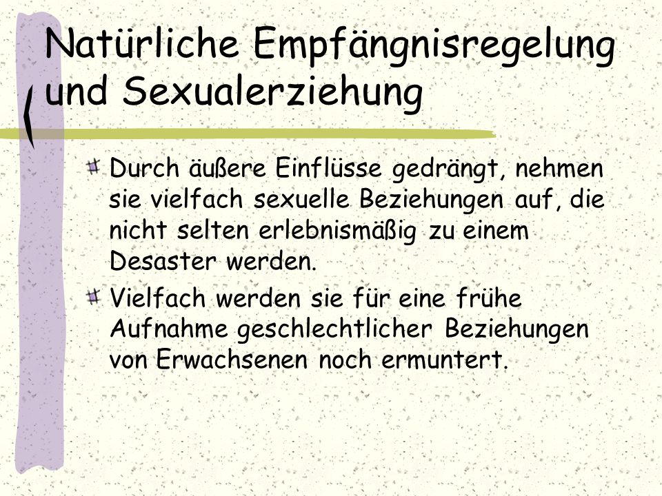 Natürliche Empfängnisregelung und Sexualerziehung