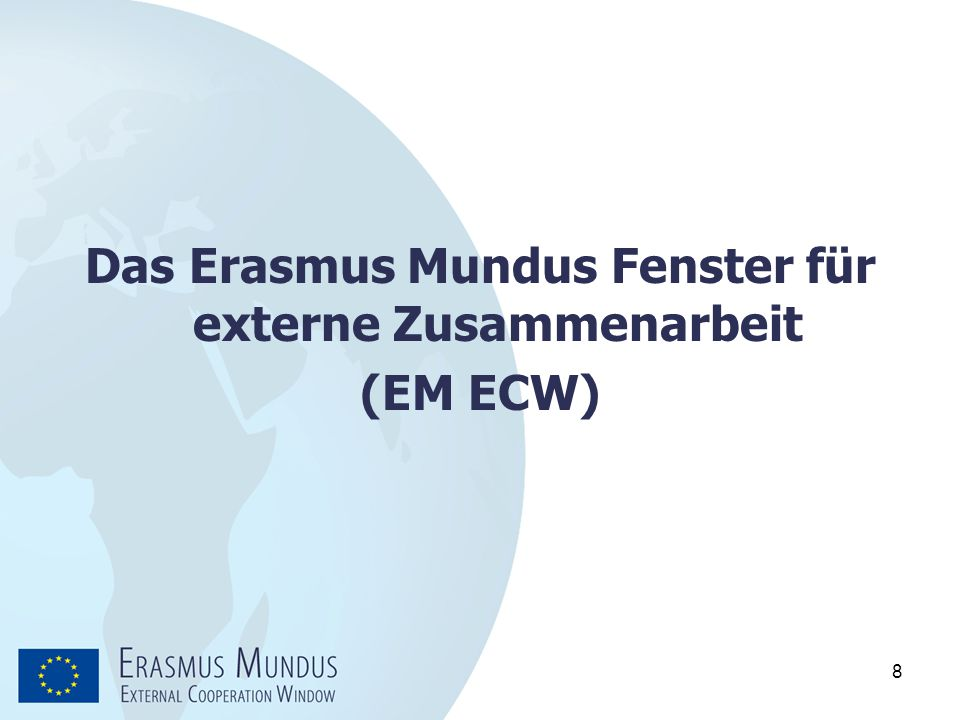 Das Erasmus Mundus Fenster für externe Zusammenarbeit