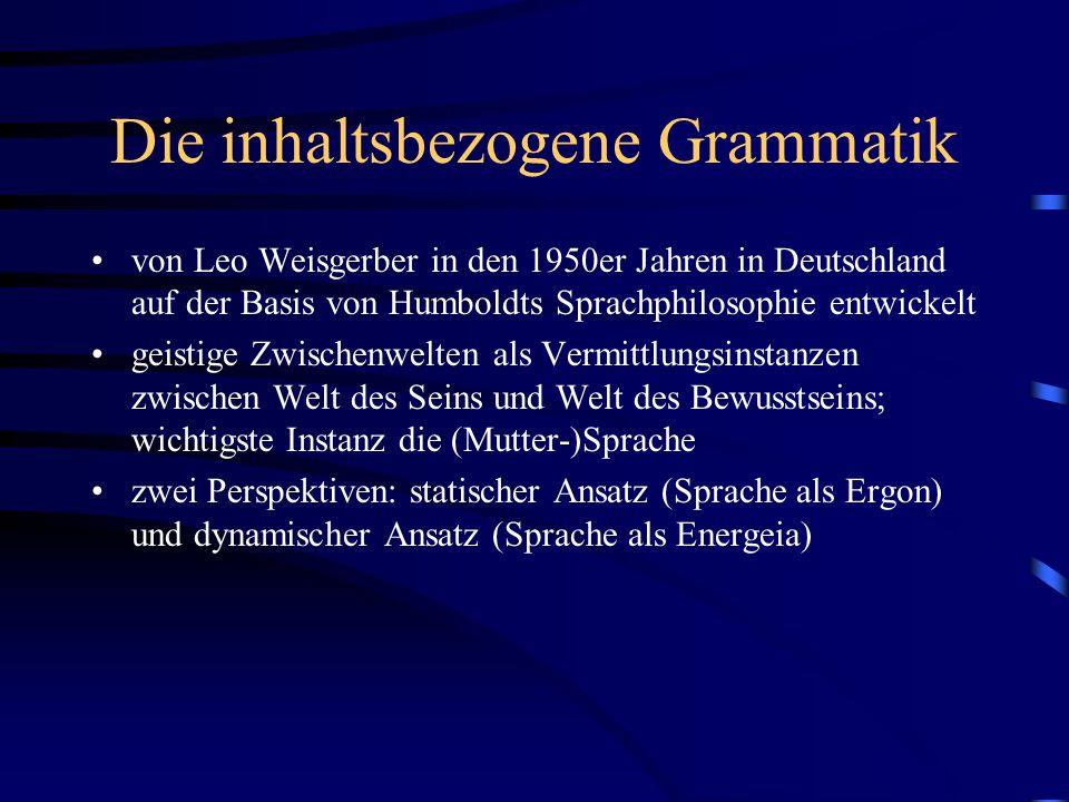 Die inhaltsbezogene Grammatik