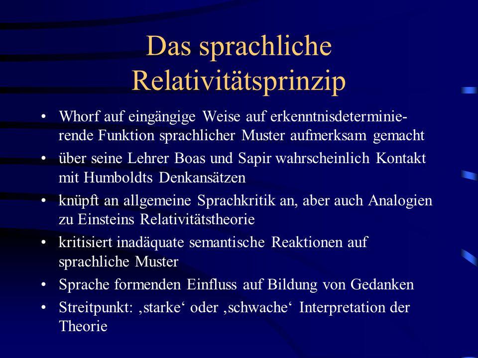 Das sprachliche Relativitätsprinzip