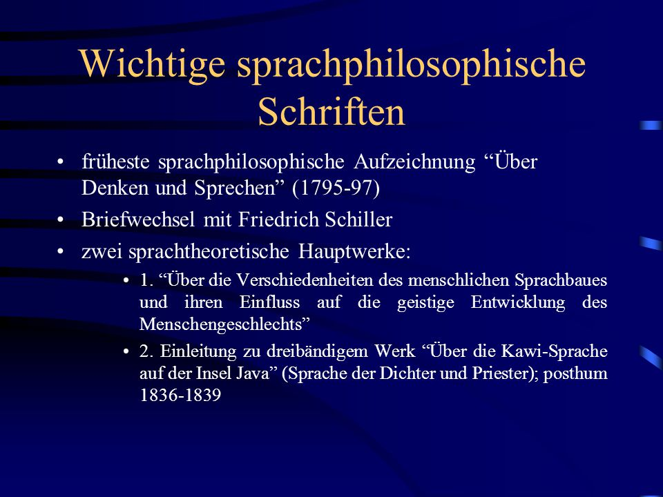 Wichtige sprachphilosophische Schriften