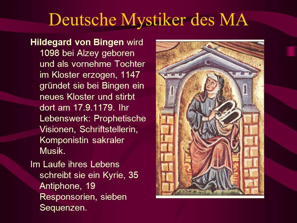 Deutsche Mystiker des MA
