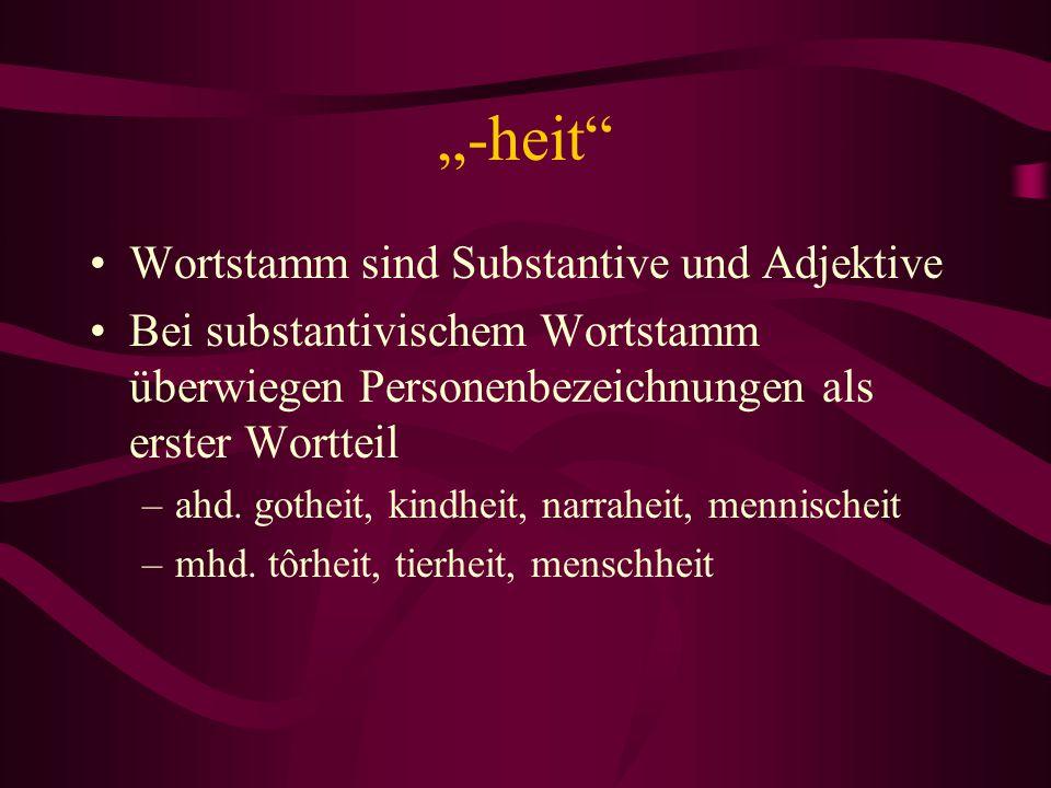 """""""-heit Wortstamm sind Substantive und Adjektive"""